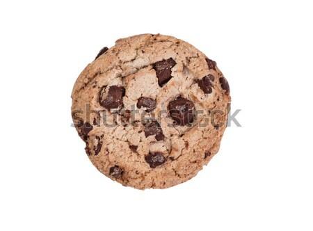 Tutto cioccolato fondente chip cookie isolato bianco Foto d'archivio © tab62