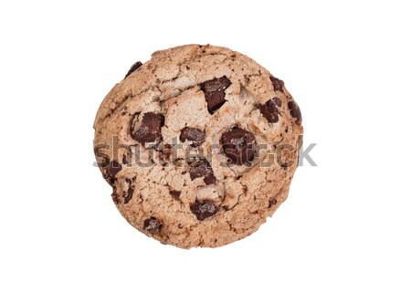 Todo chocolate oscuro chip cookie aislado blanco Foto stock © tab62