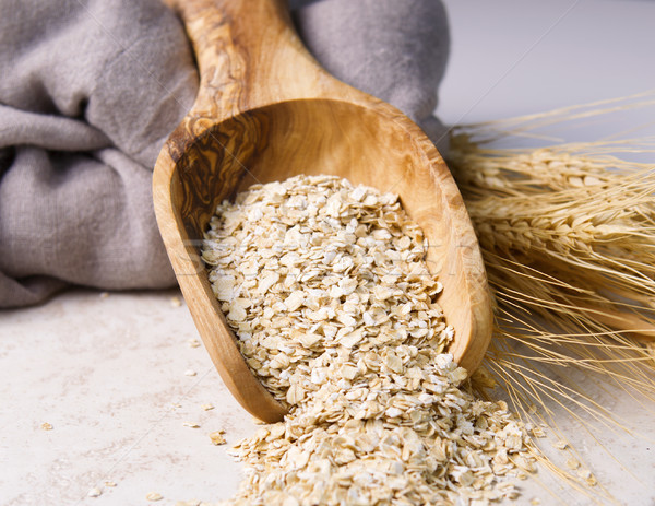 Rolled Oats in Wooden Spoon  Stock photo © tab62