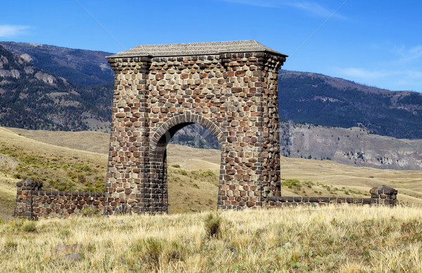 Stone Archway Entrance to Yellowstone National Park  Stock photo © tab62