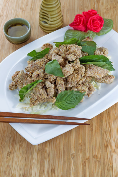 Chinese cuisine fried chicken Stock photo © tab62