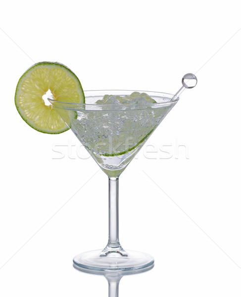 Refreshing Cocktail with Lime on White background  Stock photo © tab62