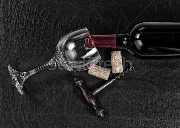 表示 ヴィンテージ コークスクリュー 赤ワイン ボトル アンティーク ストックフォト © tab62