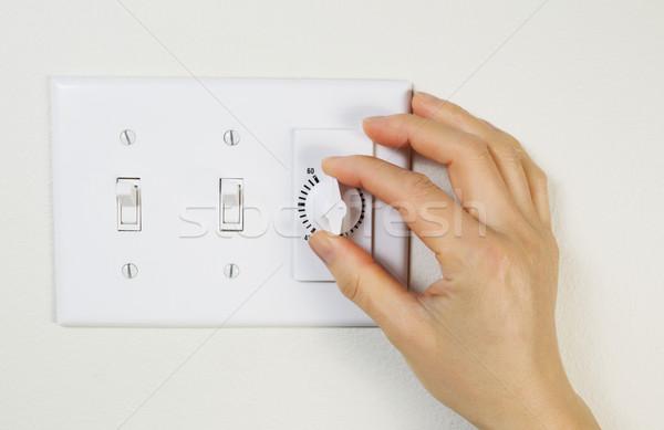 Fan timer bagno orizzontale foto femminile Foto d'archivio © tab62