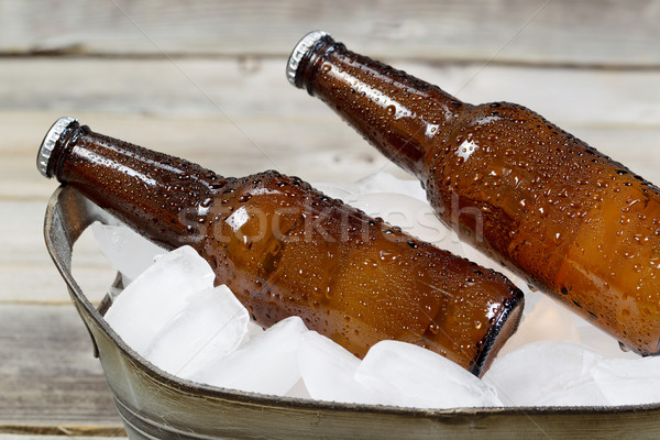 Cold Bottled Beer on Ice  Stock photo © tab62
