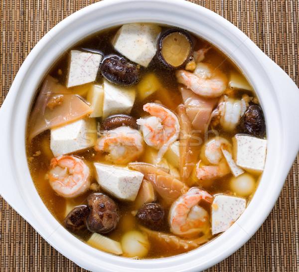 新鮮な アジア スープ 竹 高い 表示 ストックフォト © tab62