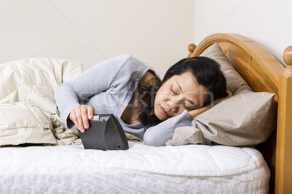 Mature woman trying to fall alseep  Stock photo © tab62