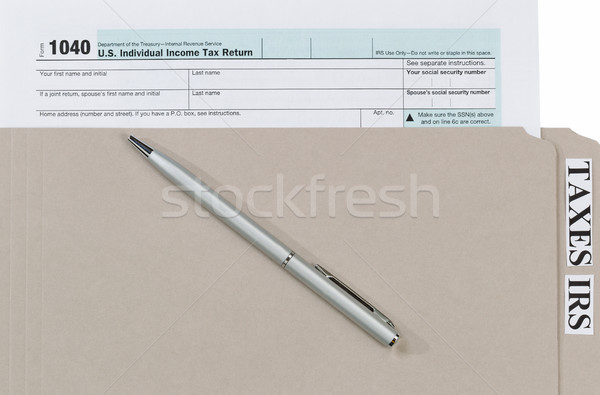 индивидуальный доход налоговых форме чернила пер Сток-фото © tab62