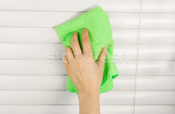Stock photo: Cleaning Window Blinds