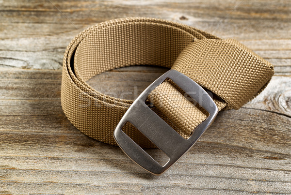 Utility nylon belt with buckle on rustic wooden boards Stock photo © tab62