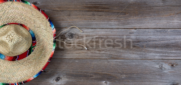 Traditional large sombrero for Cinco de Mayo holiday party celeb Stock photo © tab62
