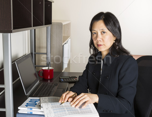 Professional Mature Woman Income Tax Accountant at Work  Stock photo © tab62