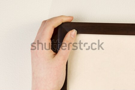 Hanging Picture Frame on home interior wall  Stock photo © tab62
