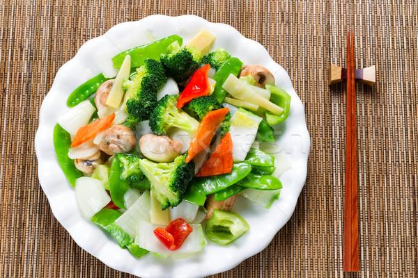 Gezonde gestoomd gemengd groenten klaar eten Stockfoto © tab62