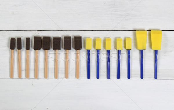 Organizado novo pintar branco alto Foto stock © tab62