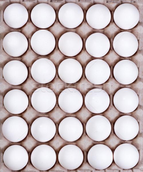 段ボール カートン 新鮮な 全体 白 卵 ストックフォト © tab62