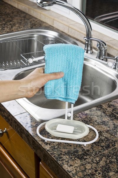 Hanging Microfiber Dish Towel for Drying  Stock photo © tab62