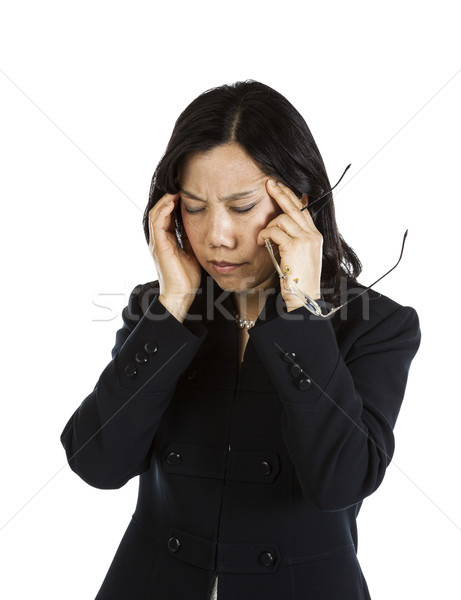 Asian woman with a stressful moment  Stock photo © tab62