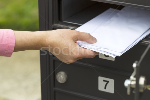 Putting up the mail  Stock photo © tab62