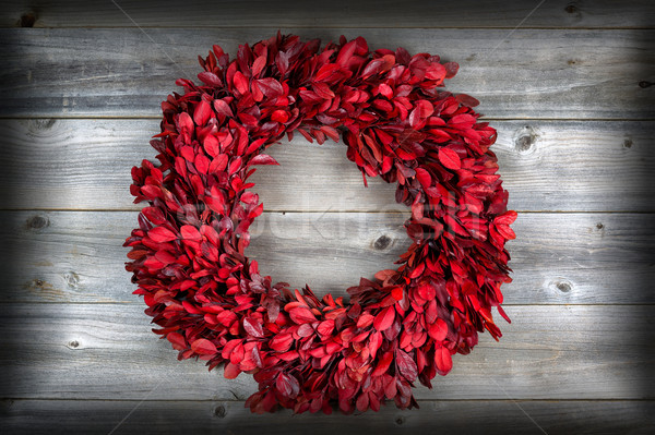 Natural leaf wreath, with vignette, for the seasonal holidays on Stock photo © tab62