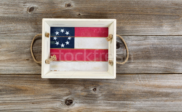 Holiday Food and drink server on rustic planks Stock photo © tab62
