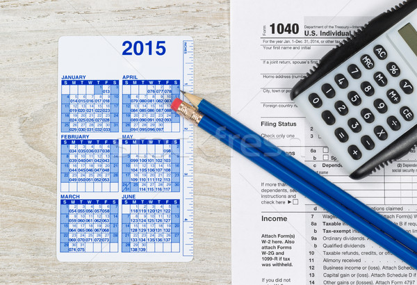 Yearly Tax Preparation Time  Stock photo © tab62