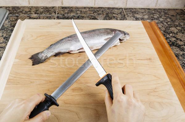 Sharpening Fillet Knife  Stock photo © tab62