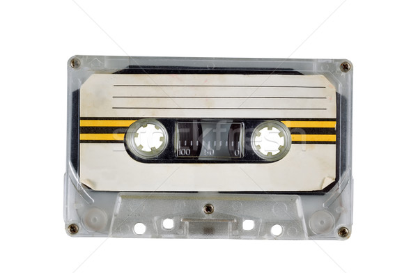 Stock photo: Old Cassette Tape on White