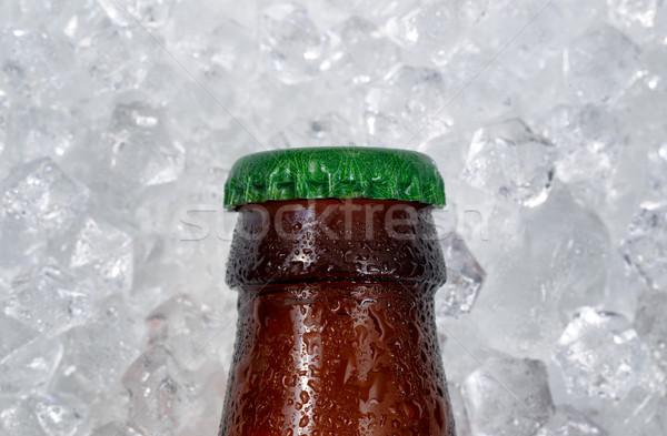 ビール瓶 キャップ 冷却 ダウン 氷 ストックフォト © tab62