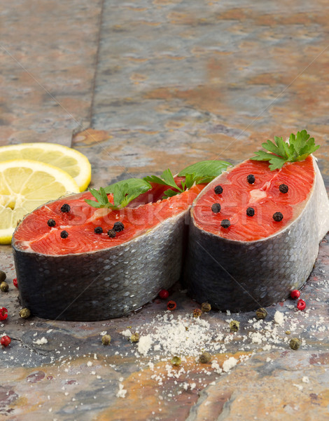 Fresh Raw Salmon Steaks ready for cooking  Stock photo © tab62