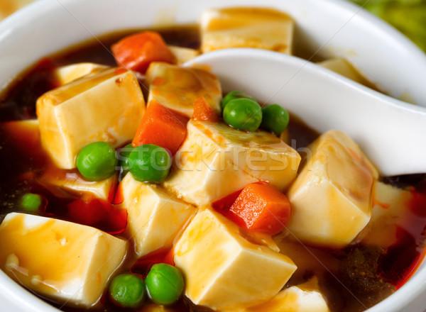Tofu sopa de legumes prato pronto comer Foto stock © tab62