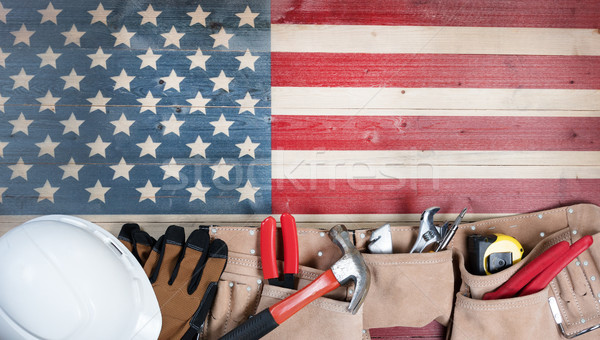Labor Day holiday for United States of America with worker tools Stock photo © tab62
