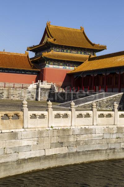 Cité interdite temple eau Chine ciel bleu Photo stock © tab62