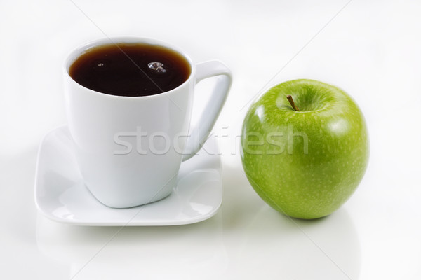 Fresh apple and coffee for morning breakfast Stock photo © tab62