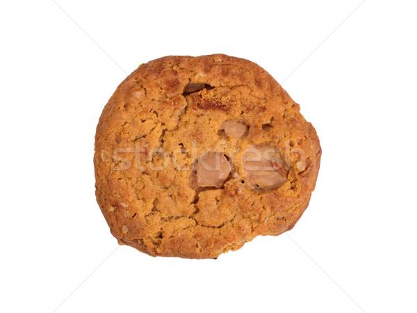 Całość karmel jabłko cookie odizolowany biały Zdjęcia stock © tab62