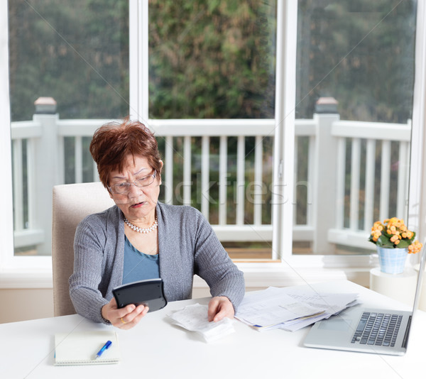 Senior mulher interesse olhando Foto stock © tab62