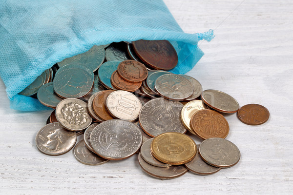 Bag of money on table  Stock photo © tab62