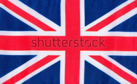 Zjednoczone Królestwo banderą tkaniny materiału tle biały Zdjęcia stock © tab62