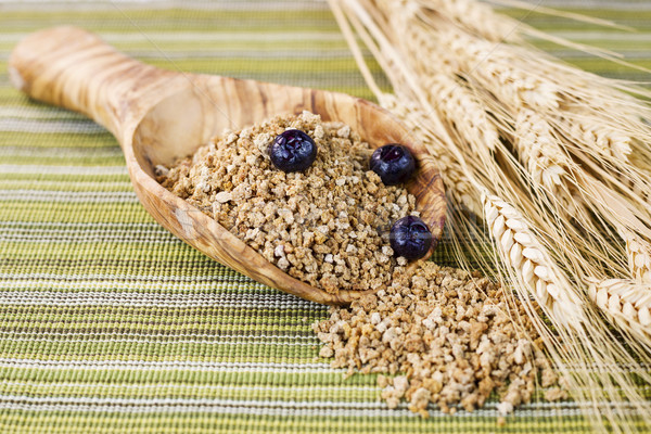 Whole Grain Cereal in Large Wooden Spoon  Stock photo © tab62