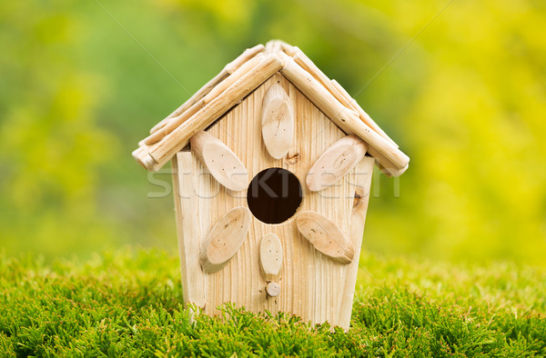 New Wooden Birdhouse Outdoors during daytime  Stock photo © tab62