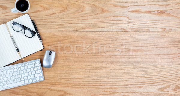 Kilátás piros tölgy asztali copy space felső Stock fotó © tab62