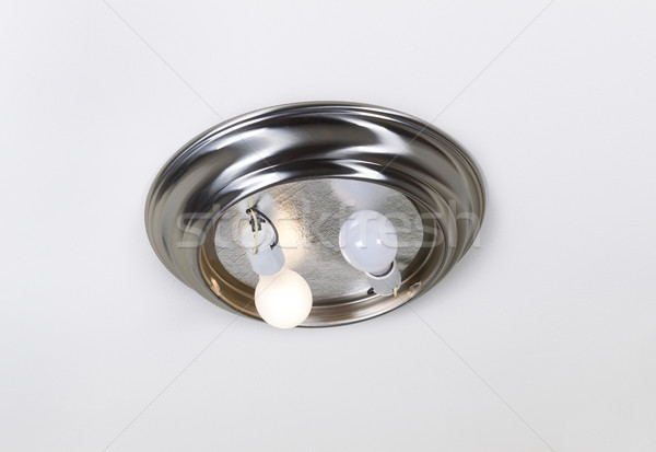 Open Ceiling Light for Bulb Replacement Stock photo © tab62