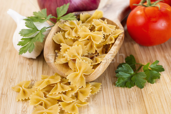 Raw Pasta with vegetables and herbs  Stock photo © tab62