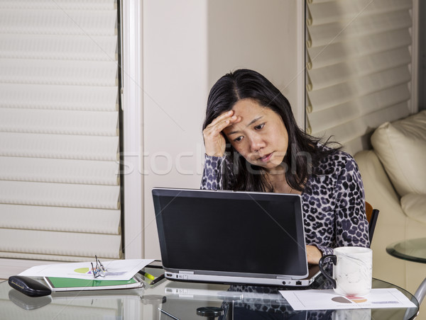 Worried Teleworker at Home Office Stock photo © tab62