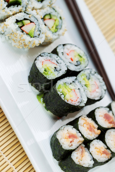 Handmade Sushi in Plate ready to eat  Stock photo © tab62