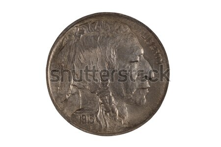 First year of original United States Indian Head Nickel on white Stock photo © tab62