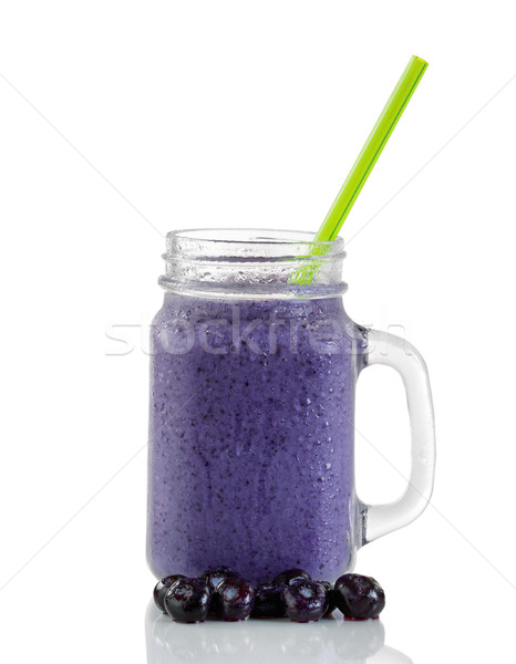 Frosted blueberry smoothie isolated on white background  Stock photo © tab62