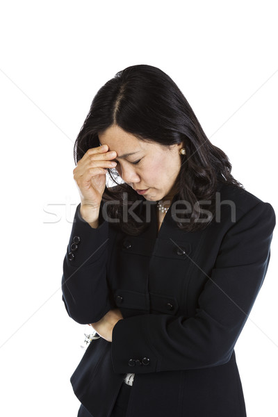 Dojrzały asian kobieta stresujące dzień stres Zdjęcia stock © tab62