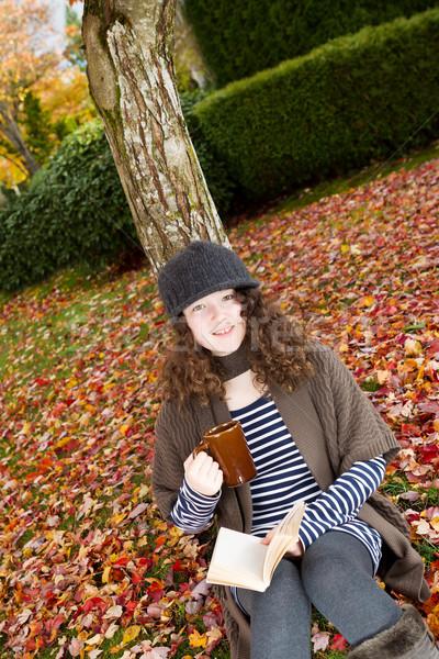 Teen Girl Enjoying the Autumn Season  Stock photo © tab62