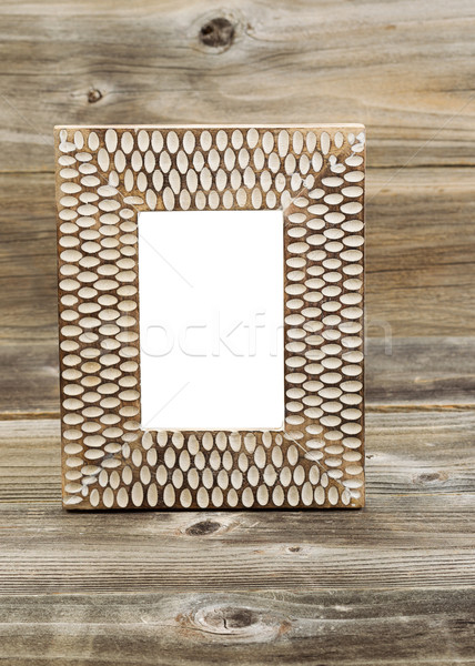 Wooden Picture Frame on Rustic Wood  Stock photo © tab62